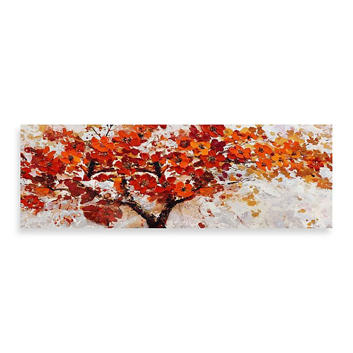 Alternate image 1 for Red Embellished Canvas Tree 60-Inch x 20-Inch Wall Art