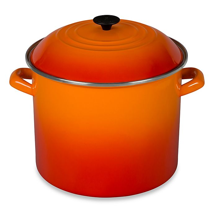 Alternate image 1 for Le Creuset® 20 qt. Stock Pot in Flame