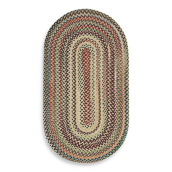 Alternate image 1 for Capel Rugs Sherwood Forest Oval Braided 2'3 x 4' Accent Rug in Wheat