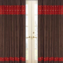 Sweet Jojo Designs Wild West 84-Inch Bandana Print Window Panels (Set of 2)
