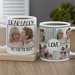 Love Photo Collage Personalized Coffee Mug for Him 11 oz.