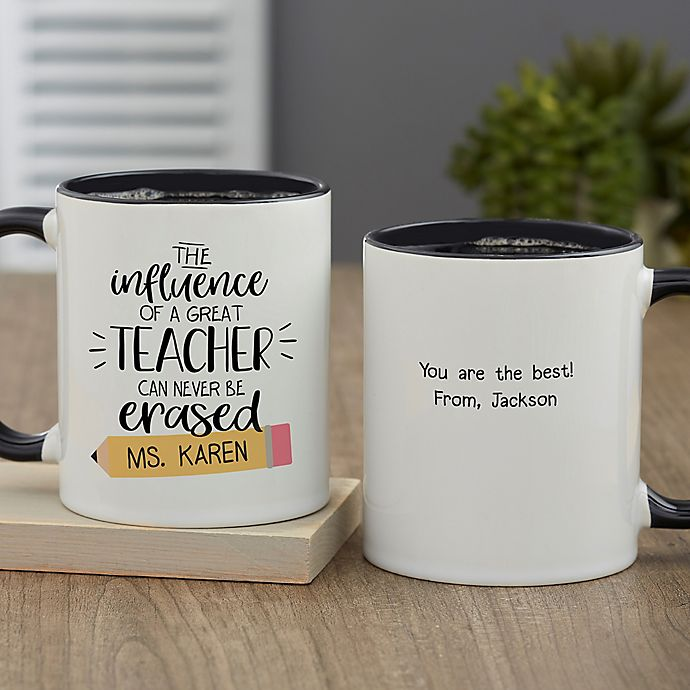 Alternate image 1 for The Influence of a Great Teacher Personalized 11 oz. Coffee Mug