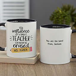 The Influence of a Great Teacher Personalized 11 oz. Coffee Mug