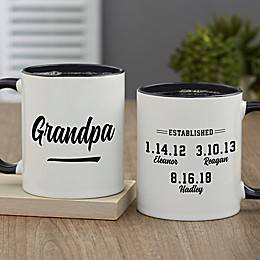 Established Grandpa Personalized 11 oz. Coffee Mug