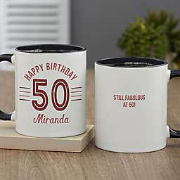 Modern Birthday Personalized 11 oz. Coffee Mug
