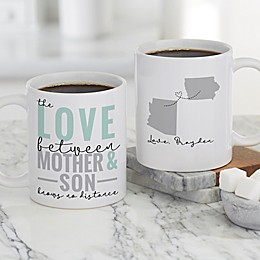 Love Knows No Distance Personalized 11 oz. Coffee Mug for Mom