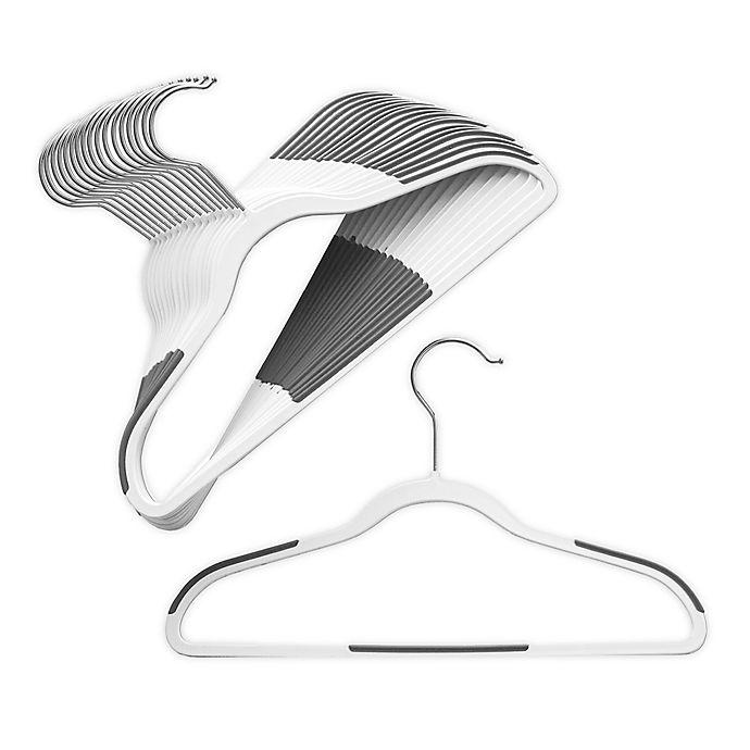 Alternate image 1 for ORG Slim Grip™ Kids' Hangers in White (Set of 18)