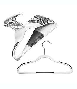Ganchos para ropa de niños de ABS ORG™ Slim Grip™ color blanco, Set de 18