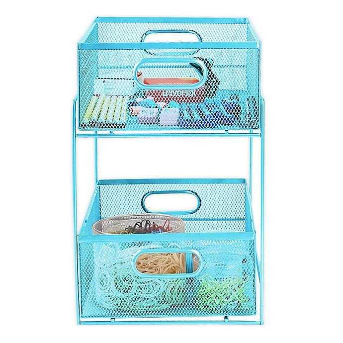 Alternate image 1 for Mind Reader 2-Tier Basket Storage Organizer