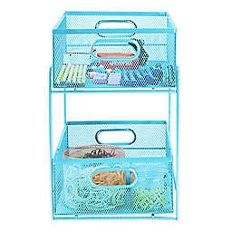 Mind Reader 2-Tier Basket Storage Organizer