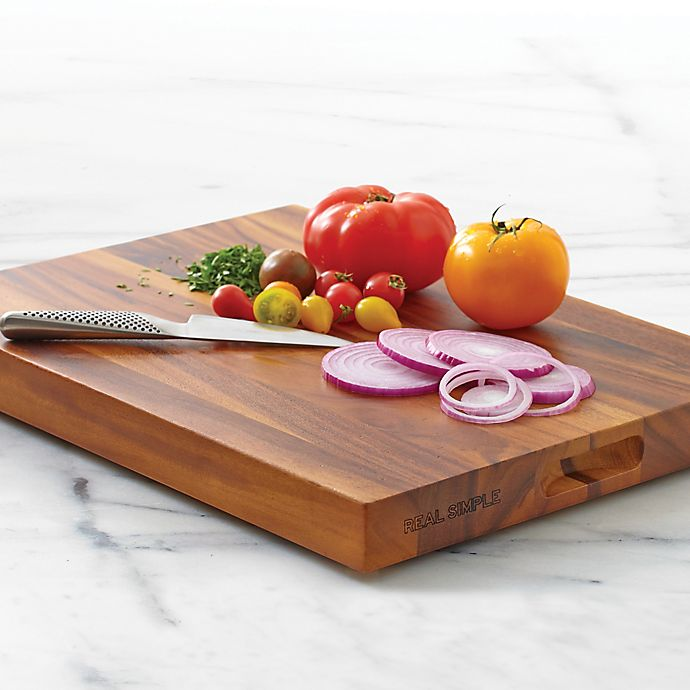 Real Simple® Acacia Wood Chopping Board | Bed Bath & Beyond