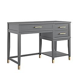 CosmoLiving by Cosmopolitan Westerleigh Lift-Top Computer Desk in Graphite Grey