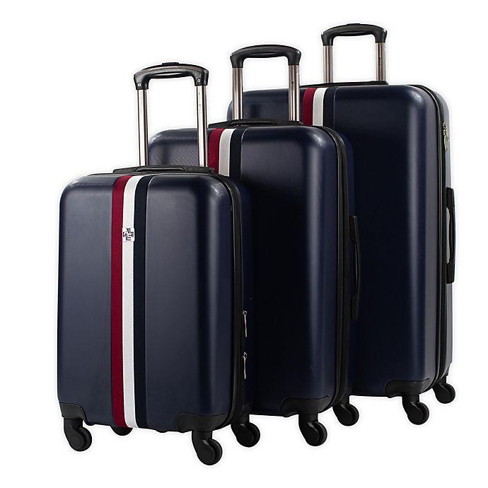 Alternate image 1 for American Sport Plus 3-Piece Stripes Hardside Spinner Luggage Set