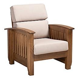 Baxton Studio Leala Lounge Chair in Taupe
