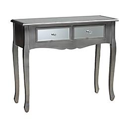 Baxton Studio Romaine Mirrored Console Table in Silver