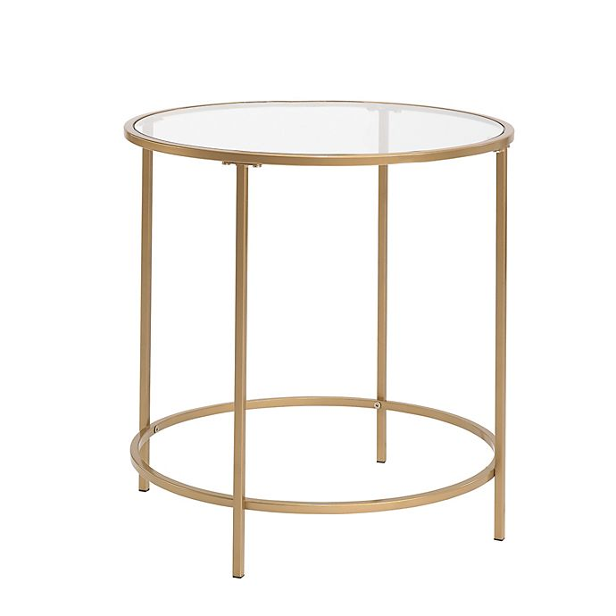 Small International Lux Coffee Table In, Small Round Metal And Glass Coffee Table