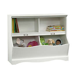 Sauder Pogo Cubbyhole Bookcase in Soft White
