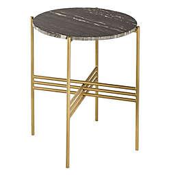 TOV Furniture Cress Side Table in Gold/Black