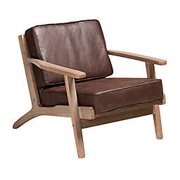 Baxton Studio Felicite Armchair in Dark Brown