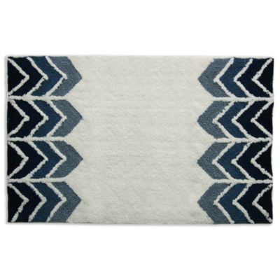 Ryann Whiteindigo Bath Rug Bed Bath Beyond
