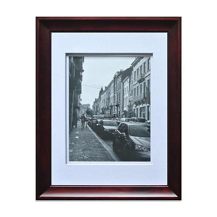 Gallery 8 Inch X 10 Inch Double Mat Frame In Dark Walnut