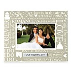 Grasslands Road® Ceramic 4-Inch x 6-Inch Our Wedding Day Photo Frame in Grey