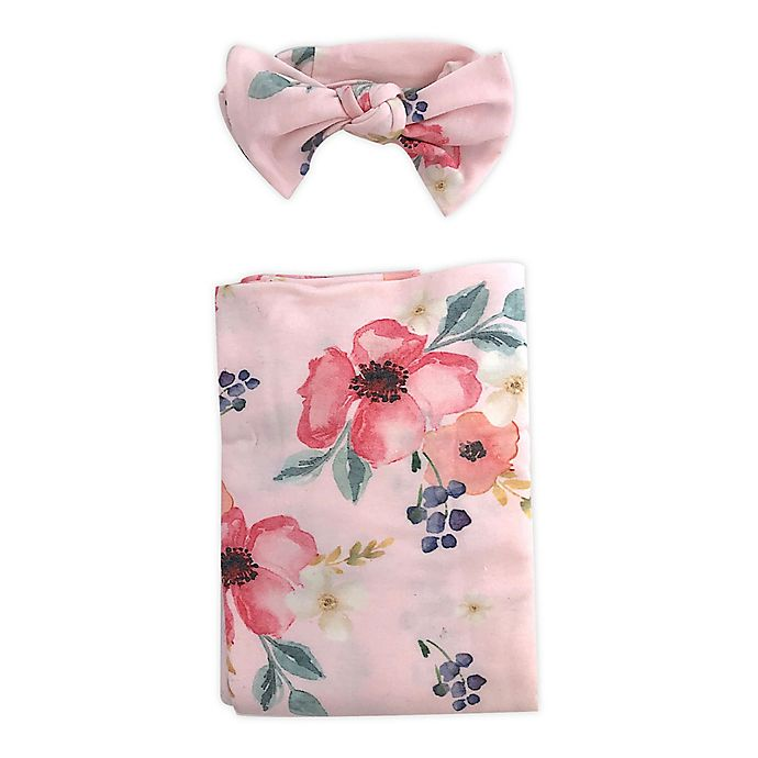 Alternate image 1 for Toby Fairy™ Floral Headband and Wrap Set in Pink