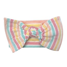 NYGB™ One Size Rainbow Stripe Bow Headband