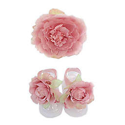 Toby Fairy™ Newborn Flower Headband and Footwrap Set in Pink