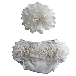 Toby Fairy™ 2-Piece Headband and Diaper Cover Set in White