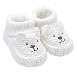 carter's® Crochet Bear Booties in Ivory