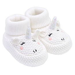 carter's® Crochet Unicorn Booties in White
