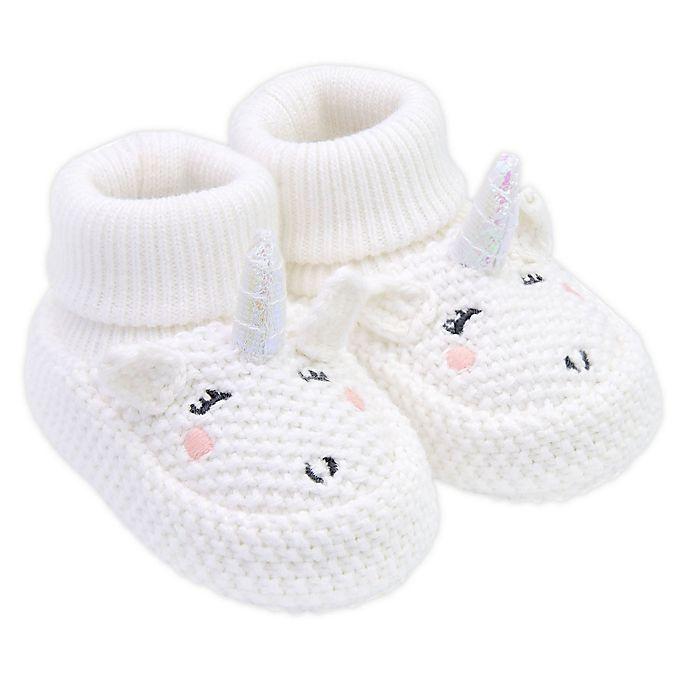 Alternate image 1 for carter's® Crochet Unicorn Booties in White