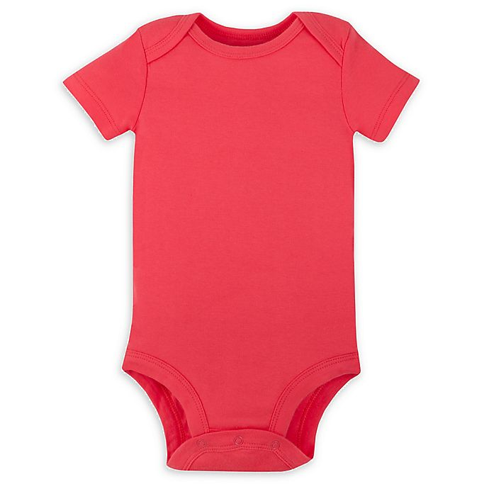 Alternate image 1 for Lamaze® Organic Cotton Bodysuit in Pink/Coral
