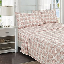 Coastal Life Tropical Coral 144-Thread-Count Sheet Set