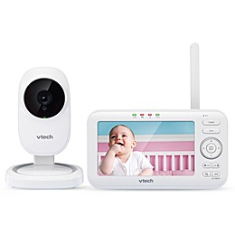VTech®  VM5251 5-Inch Digital Video Baby Monitor with Automatic Night Vision in White