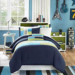 Mi Zone Pipeline Full/Queen Comforter Set in Navy