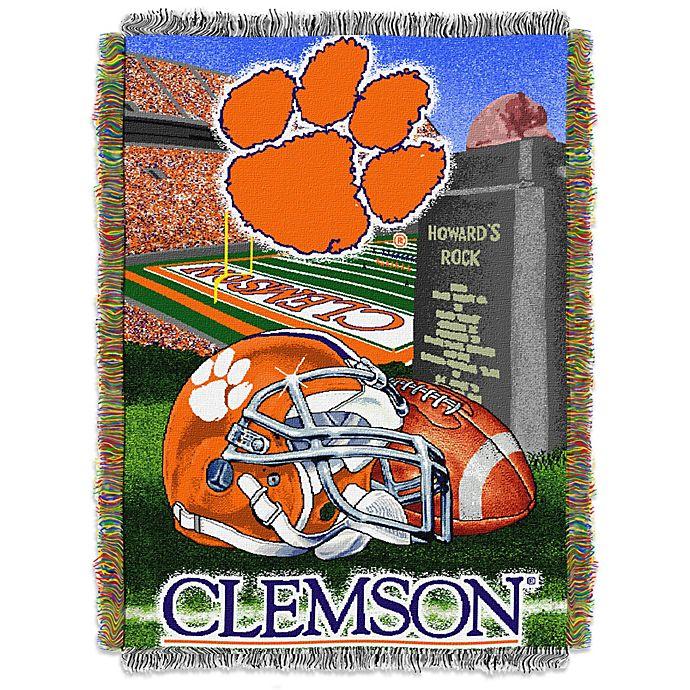 Alternate image 1 for Clemson University Tapestry Throw Blanket