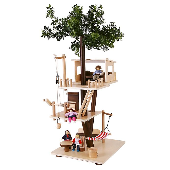 Alternate image 1 for EverEarth™ Wooden Tree House Playset