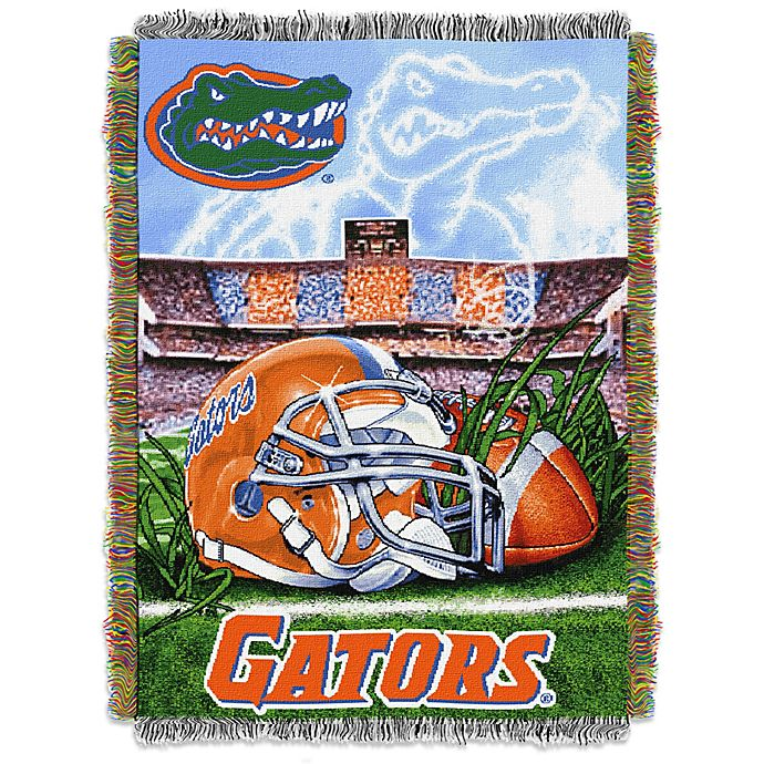 Alternate image 1 for University of Florida Tapestry Throw Blanket