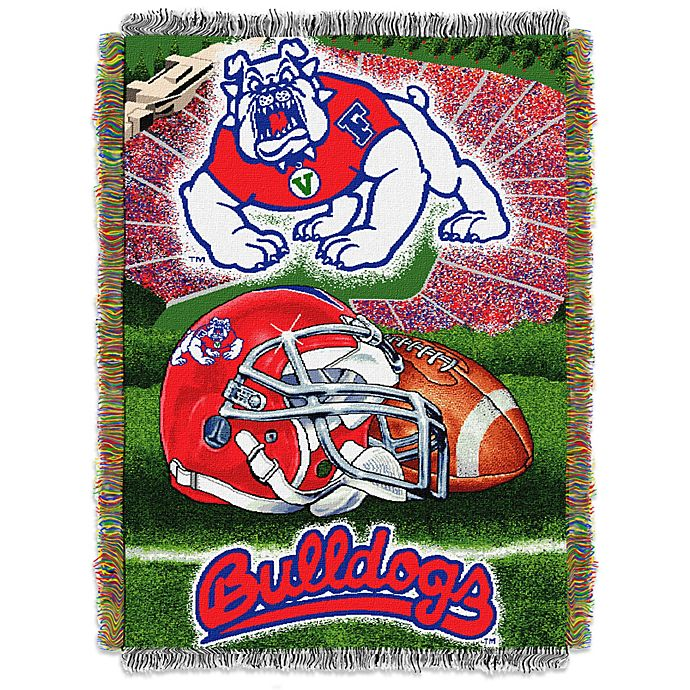 Alternate image 1 for California State University, Fresno Tapestry Throw Blanket