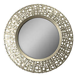 Arthouse Round Lattice Wall Mirror in Gold