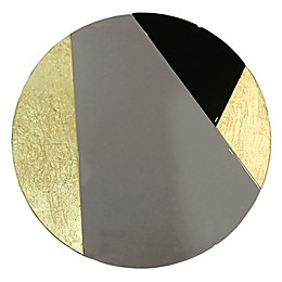 Arthouse Cracked Gold and Foil Round Wall Mirror