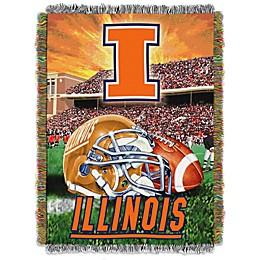 University of Illinois Tapestry Throw Blanket