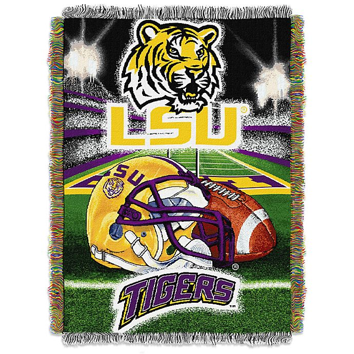 Alternate image 1 for Louisiana State University Tapestry Throw Blanket