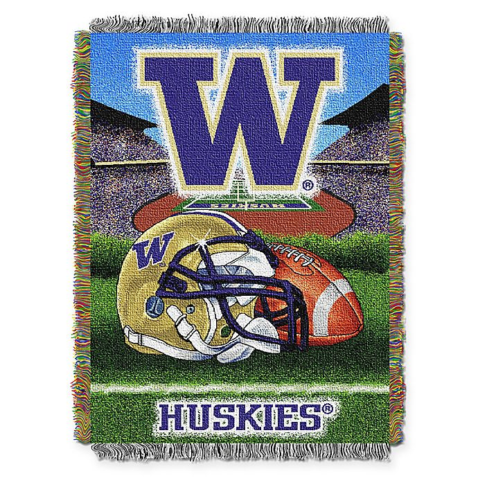 Alternate image 1 for University of Washington 48-Inch x 60-Inch Tapestry Throw Blanket