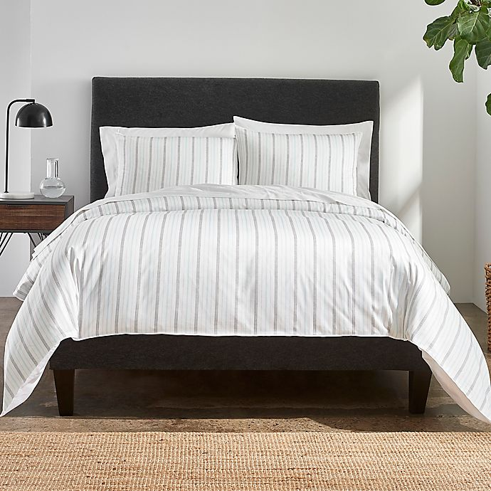Alternate image 1 for Under The Canopy® Striped 3-Piece Organic Cotton Comforter Set