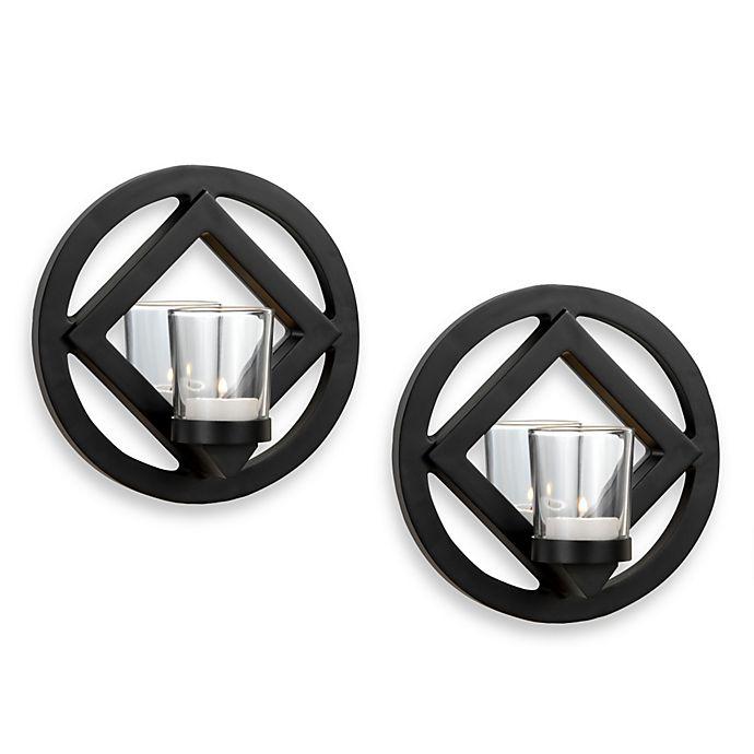 Alternate image 1 for Mikasa® Elements Sconces in Black (Set of 2)