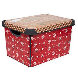 Simplify Santa's Elves Storage Tote Bin