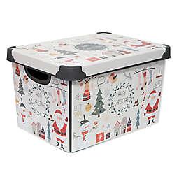 Simplify Happy Christmas Storage Tote Bin